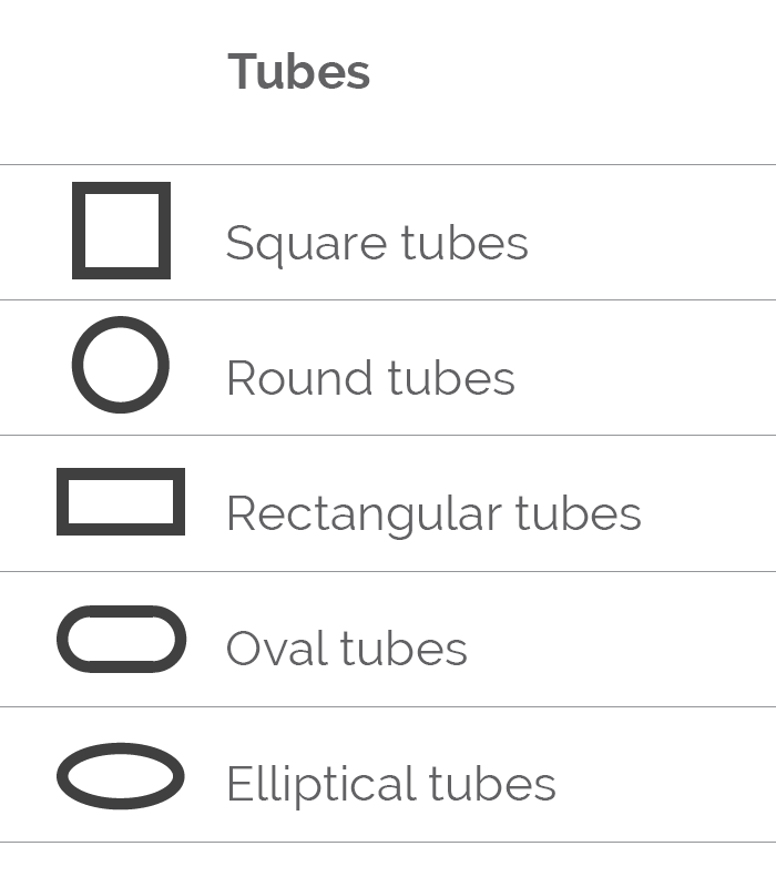 table tubes